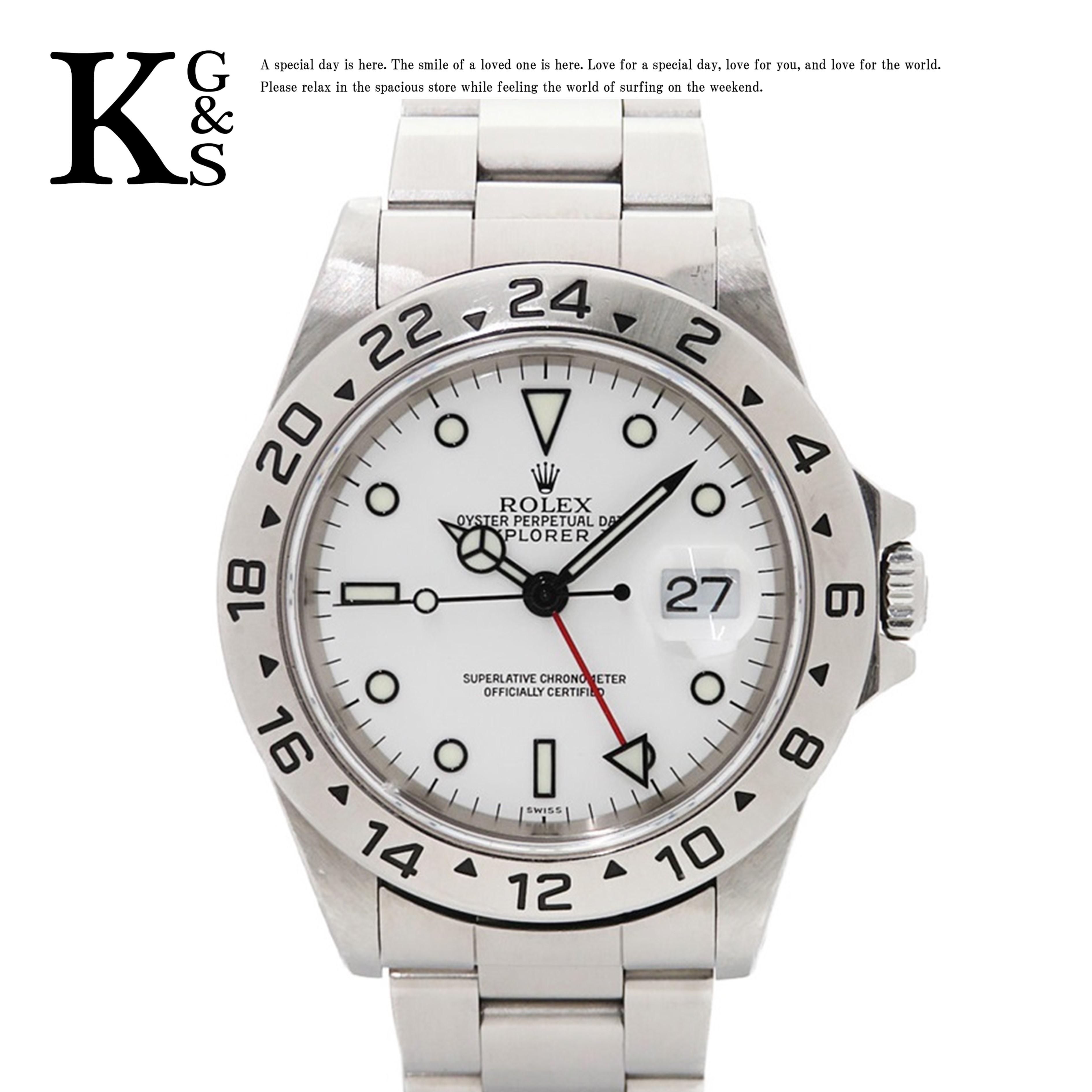 【ギフト品質】ロレックス/ROLEX メンズ 腕時計 エクスプローラー2 ホワイト文字盤 ステンレススチール スポーツモデル 16570