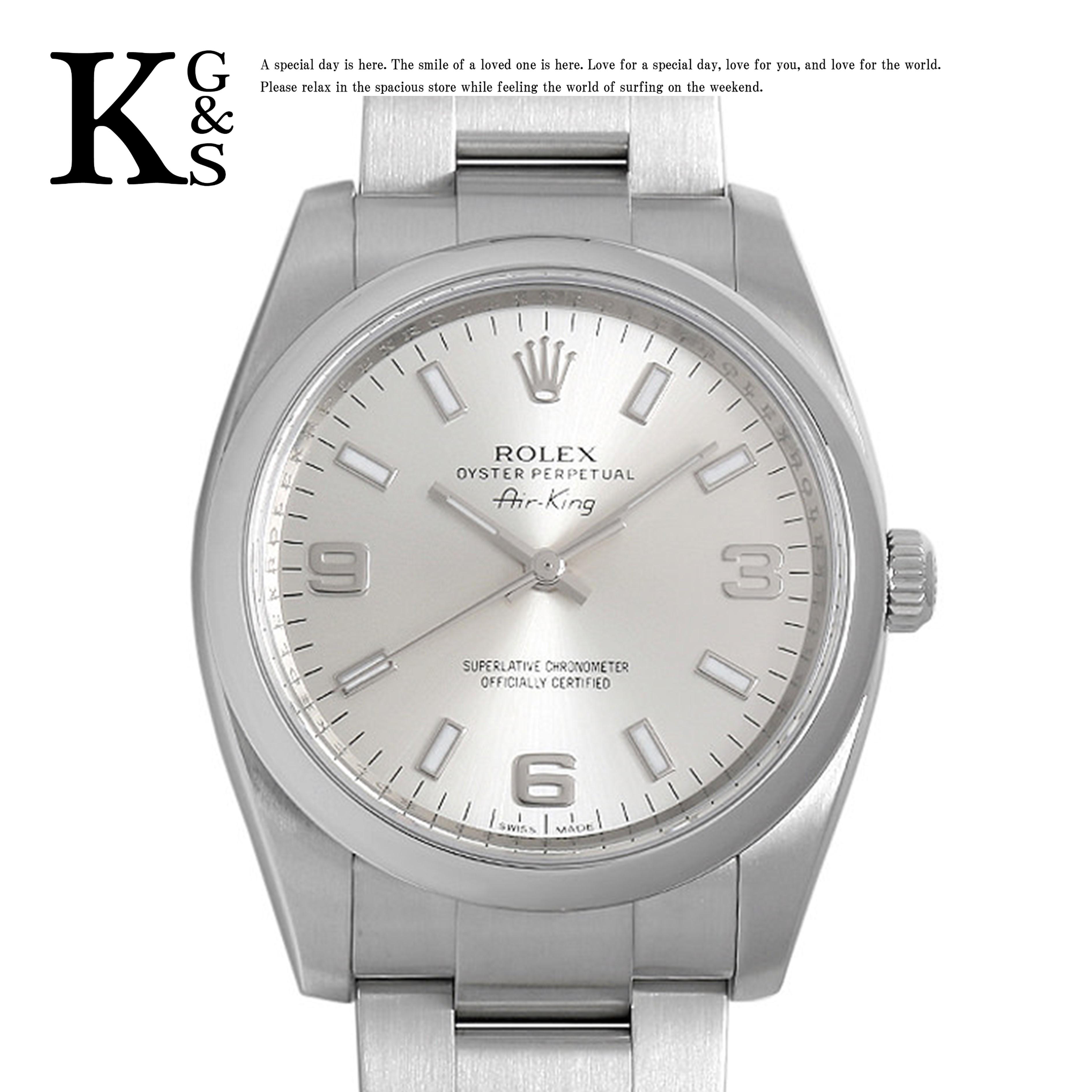 【ギフト品質】ロレックス/ROLEX メンズ 腕時計 オイスターパーペチュアル 34mm シルバー文字盤 自動巻き ステンレススチール 114200