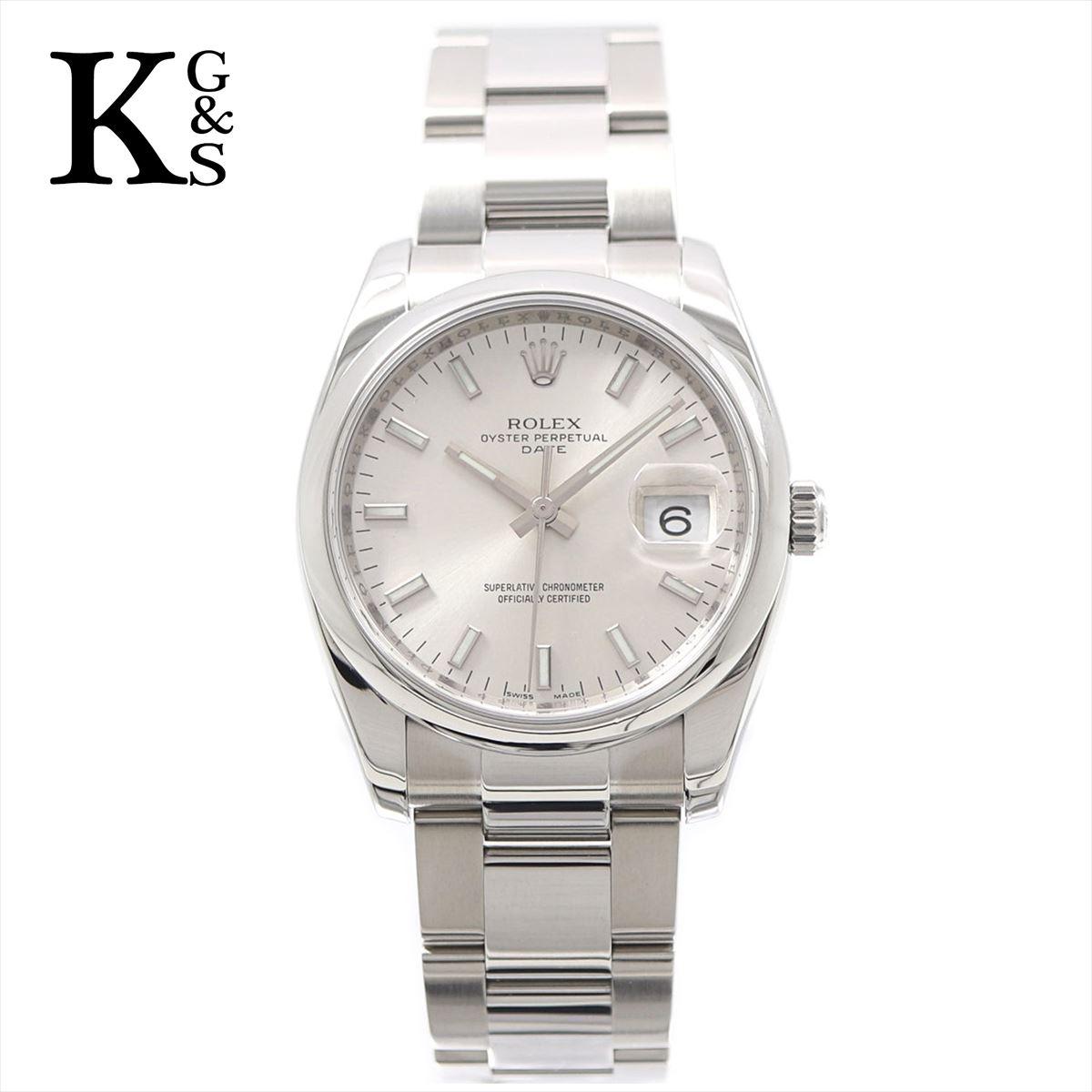 【新品】ロレックス/ROLEX メンズ 腕時計 オイスターパーペチュアルデイト シルバー ステンレススチール 115200