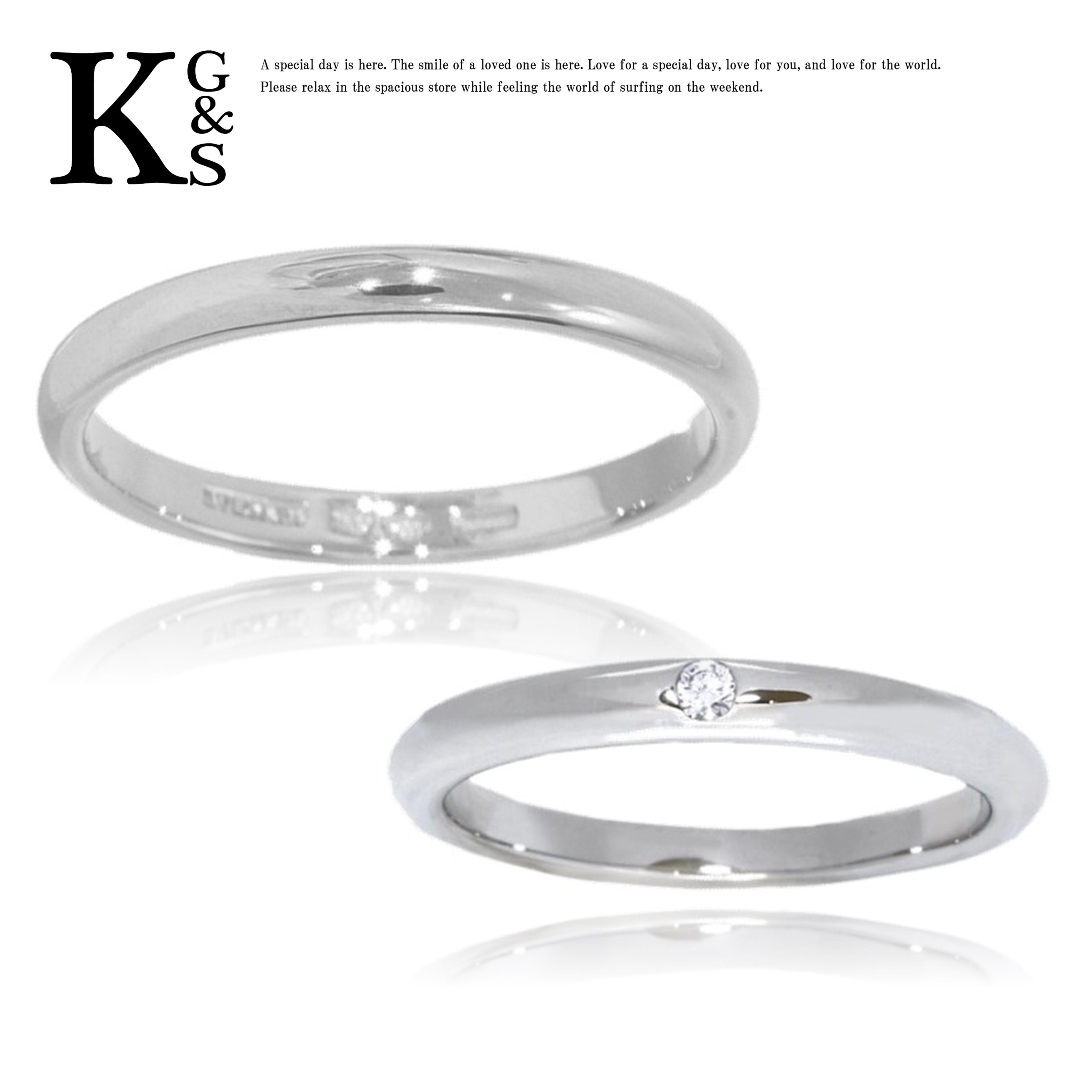 【ギフト品質】【名入れ】ブルガリ/BVLGARI レディース メンズ ジュエリー ペアリング フェディ ウェディング マリッジリング 結婚指輪 プラチナ Pt950 1Pダイヤ