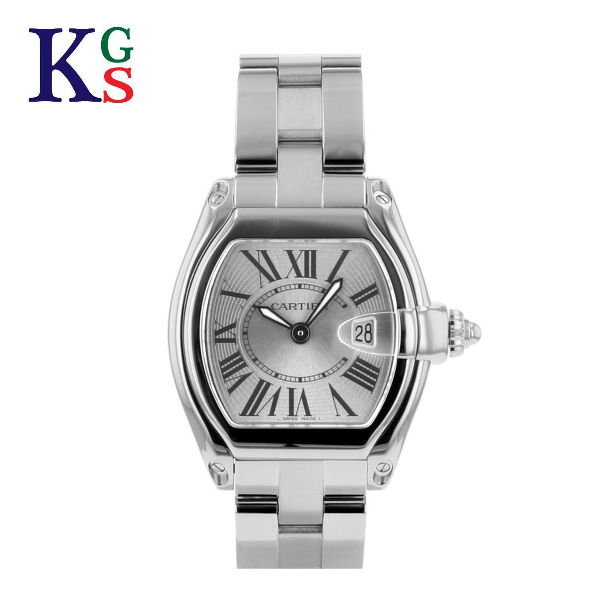 【ギフト品質】カルティエ/Cartier レディース 腕時計 ロードスターSM シルバー文字盤 ステンレススチール クオーツ W62016V3