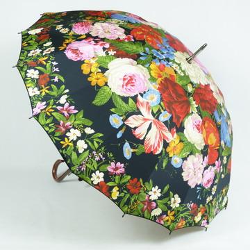 傘 雨傘 レディース 長傘 【送料無料!】一枚張り高級傘「フラワーガーデン」おしゃれ 16本骨 軽量 上品 高品質 日本製 店長おすすめ!バッグ・小物・ブランド雑貨 傘 レディース雨傘 女性用[傘一番館]