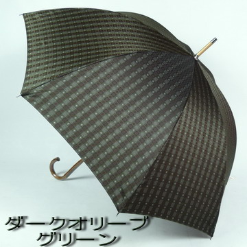 Men's husband made in Japan bags & accessories brand goods umbrella men's umbrella umbrella men's fashionable long umbrella umbrella to dye fabric TaylorMade block pattern fabric pattern pattern natural wood hand wood Rod FIGOSTILOSO figostirosso
