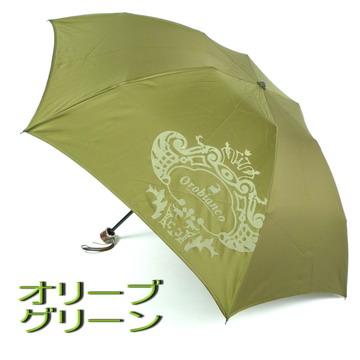 男装品牌雨伞折叠迷你: Orobianco (orobianco) 简单固体清洁泡沫打印 (罗缎) 和美丽的木手工制作在日本为男士折叠伞迷你 (3 阶段) 02P27Jan14