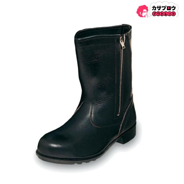 【キャッシュレスで5%還元】 安全靴 ワークシューズ エンゼル 普通作業用 CH311 半長ファスナー ペコス