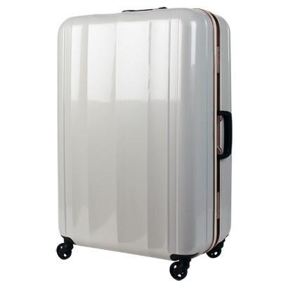最新最軽量モデル!!PC100 %鏡面仕上げスーツケース ラフカーボンホワイトゴールド【L】全体サイズ76cm×51cm×30cm