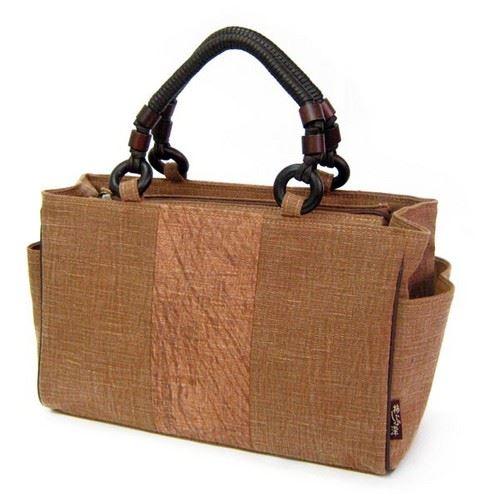 和風 和装 和染め 和柄 ハンドバッグ ヤマコー 手描き横型BOX手提げバッグ