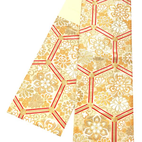 佐々木染織 牡丹 袋帯 振袖用 仕立て上がり 礼装用 振袖 正絹 西陣織 新品 振袖 販売 購入 フォーマル 古典柄 亀甲 牡丹 振袖 礼装用 成人式 ベージュ 金 ゴールド お仕立て込み 絹 六通 仕立て込み ffo-112, CHRONO:ddc0a380 --- m2cweb.com