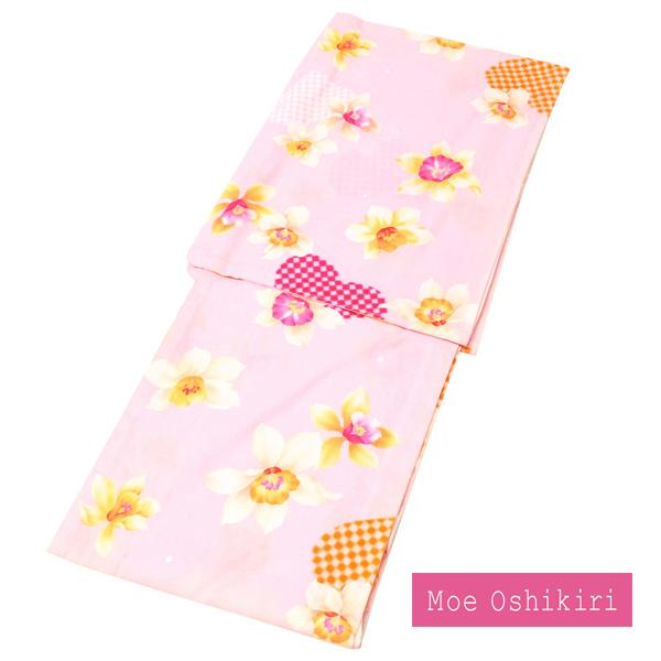 【浴衣帯プレゼント】浴衣 押切もえ Moe oshikiri ゆかた 仕立て上がり ピンク 百合 大人 女浴衣 ブランド 新品 仕立て済み アウトレット 在庫処分 y-105