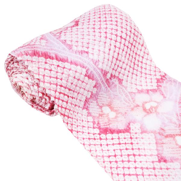 【表示価格より20%OFF・夏物最終セール】きぬたや 絞り浴衣 ゆかた 藤娘 高級浴衣 本絞り 新品 購入 販売 未仕立て 反物 綿 カジュアル 祭り 白 ピンク y-80