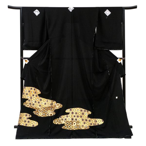 黒留袖 仕立て付き 販売 新品 購入 京友禅 亀甲 フォーマル 正絹 礼装 着物 未仕立て 反物 結婚式 披露宴 仕立て込み kt-89
