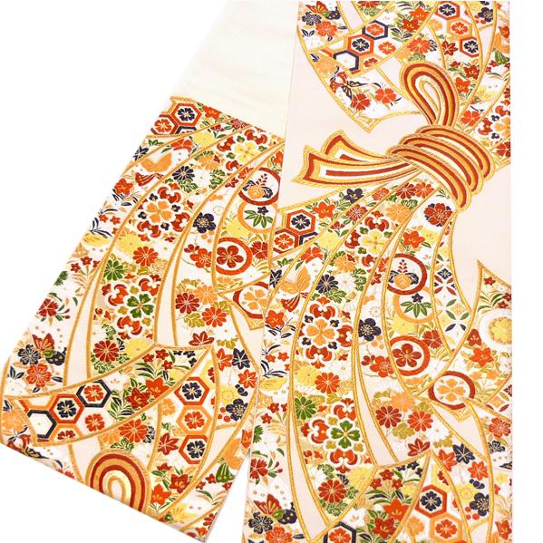【大光 袋帯 振袖用 仕立て付き】正絹 振袖 新品 購入 販売 未仕立て 西陣織 帯 成人式 結婚式 礼装用 フォーマル 白色 熨斗 振袖 絹 仕立て込み 帯 ffo-303