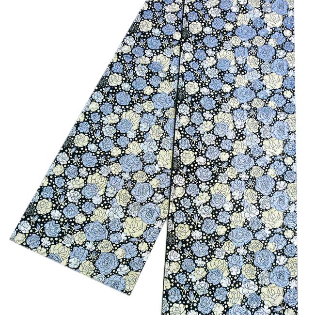 【西陣・樹】振袖袋帯 仕立て上がり 新品 販売 購入 正絹 古典柄 バラ 薔薇 振袖用 成人式 ブルーグレー シルバー 正絹 仕立て込み 出来上がり アウトレット 在庫処分 セール ffo-163