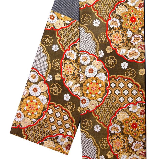 【京都イシハラ】振袖 袋帯 仕立て上がり 正絹 西陣織 新品 購入 販売 振袖用 古典柄 礼装用 フォーマル 成人式 結婚式 雪輪 黒 金 ゴールド 仕立て込み お仕立て上がり 仕立て済み 絹 六通 ffo-134