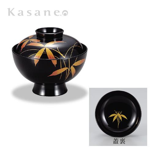 吸物椀 黒 紅笹蒔絵 5客セット