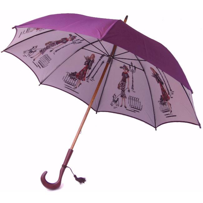 在庫あり NEWカーボン骨バージョン NEW 低廉 両面ほぐし織 長傘 パリ の散歩道 巴里 ゴールドベージュモンブランヤマグチほぐし織り軽量カーボン骨バージョン