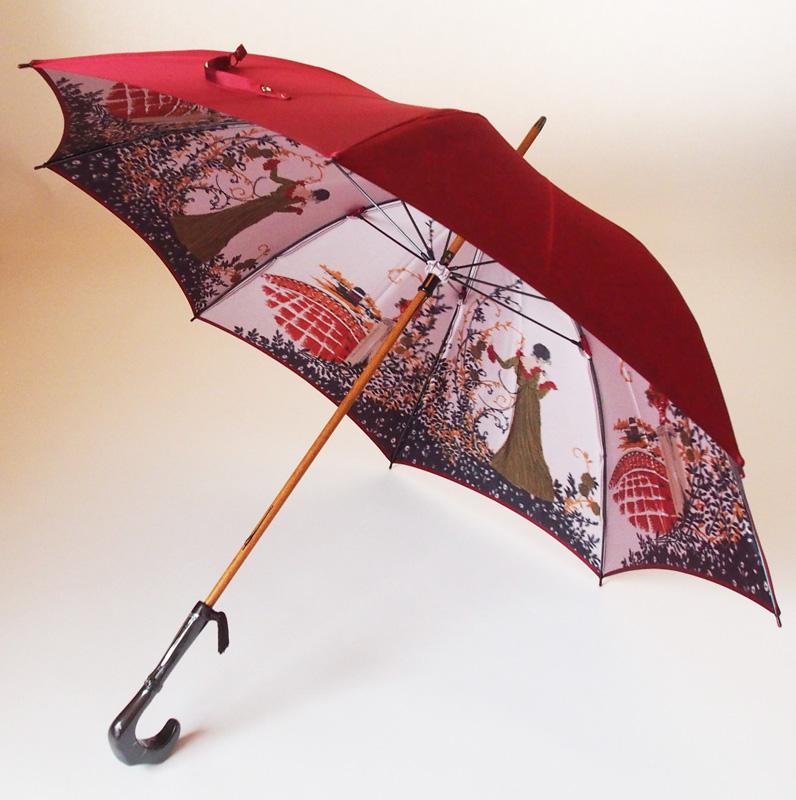 NEWカーボン骨バージョン 両面ほぐし織 人気の製品 長傘 ゴールドベージュモンブランヤマグチほぐし織り 舞姫 日本製