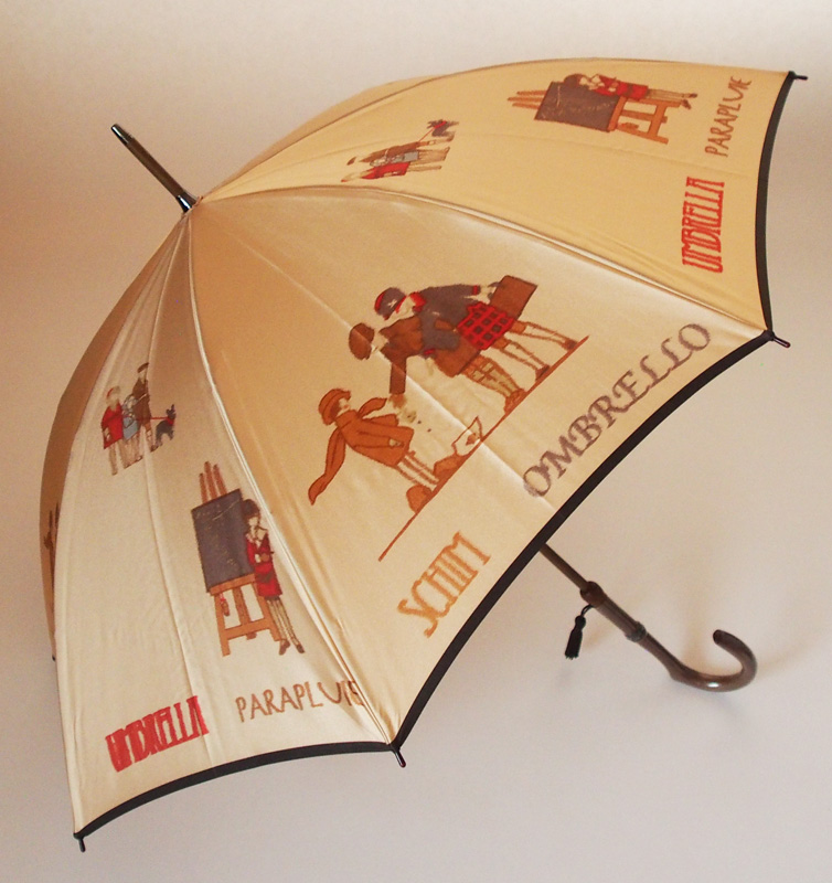 【NEW】戯れ~Tawamure(長傘)色:ベージュモンブランヤマグチ ほぐし織り 婦人雨傘軽量カーボン骨バージョン(約360g)