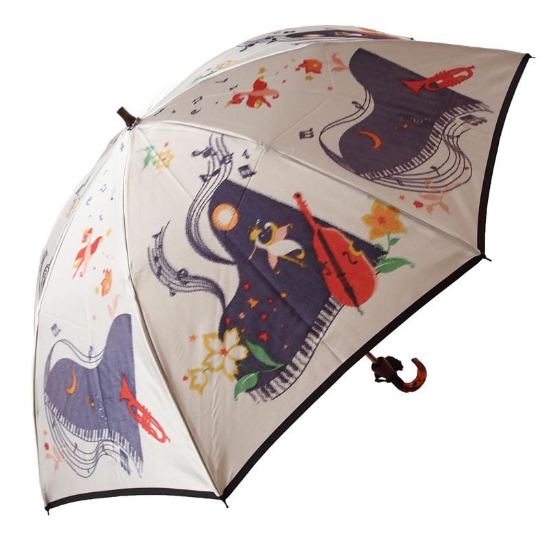 【ワルツ・フォー・ステラ/Waltz for Stella】(グレー)モンブランヤマグチほぐし織り(二段折畳傘)