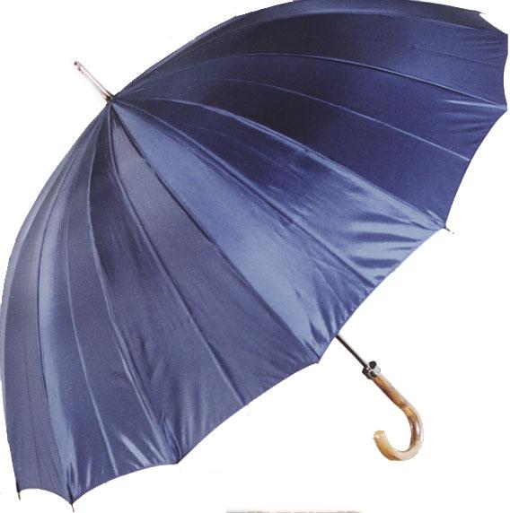 進化系紳士傘◆ミスター・ジュピター(ハットフィールド - ネイビー系) カーボン16本骨紳士傘*税/送料込み価格*