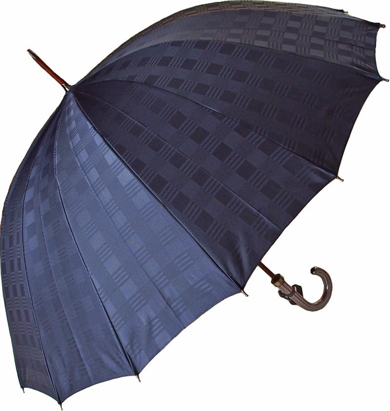 【名入れOK】前原光榮紳士傘Gグランデ(ネイビー) カーボン65cmx16本骨ラージサイズ直径111cm皇室御用達 前原光榮商店 紳士雨傘お名前彫りなしは即納できますお名前彫り有の場合は5/1(水)仕上がり予定