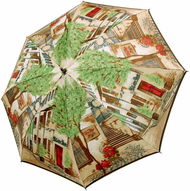 【街路樹】モンブランヤマグチほぐし織り(二段折畳傘)