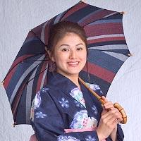 【純パラソル長傘】 日傘 和木綿(わもめん)パラソル 婦人傘(竹宝)