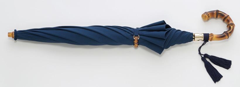 ◆即納OK◆ワカオ【晴雨兼用ショートパラソル】WAKAOノヴェラ(ネイビー)UVパワーカット・CXサラクール日傘みや竹オリジナル*胴体バンドに竹パーツ装飾はございません*