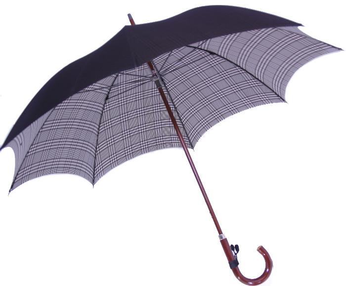 ◆米田正一 正絹紳士傘◆【受注作成】グレンチェック黒(Yoneda31B)大阪 船場の匠がつくる最高級正絹紳士傘※基本の「籐」ハンドルにて作成作成期間約4週間※ただいまネームクラフトは施せません