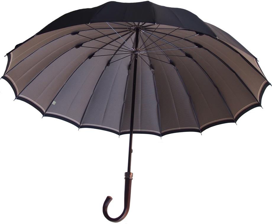 Komiya◆La Cima(ラシーマ)◆雨晴兼用 紳士傘色【オールドアフィニティ・ブラック】カーボン16間、高密度の甲州織に撥水耐水UV加工を施した雨晴兼用ハイエンドモデル。お名前入れなしは即納OKお名前入れ有の場合は4/17仕上がり予定