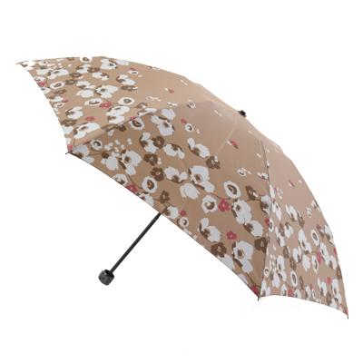 【レディース傘】【婦人用傘】【女性用傘】ミッシェルクランポピーフラワーポリエステル婦人用雨傘丸ミニタイプ