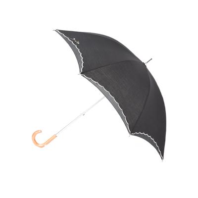 【晴雨兼用傘】ブーケ刺繍オーガンジ切継パラソル(晴雨兼用傘)ショートタイプ ファッション雑貨・小物 パラソルレディース