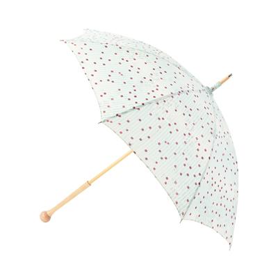 婦人用純パラソル(日傘)ゆかたを引き立てる 日本の和の美しさ木棒手開(ドット柄)バック・小物・傘・レディース