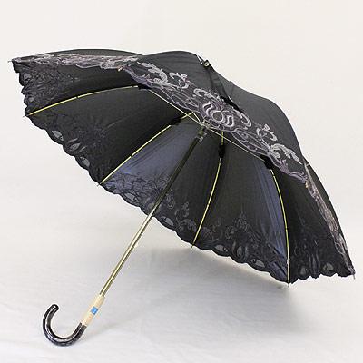 日傘・一級遮光晴雨兼用傘ショート「オーガンジー カットワーク」