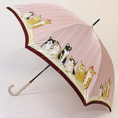【在庫限り】【婦人傘マンハッタナーズ傘】猫の傘【レディース傘 カサ かさ】おしゃれ 婦人傘マンハッタナーズ傘MASTERPIELE COLLECTION「若かったころ」レディースワンタッチ雨傘