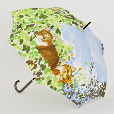 婦人傘マンハッタナーズ傘「ごきげん Im Good Temper」(1枚張り)雨傘