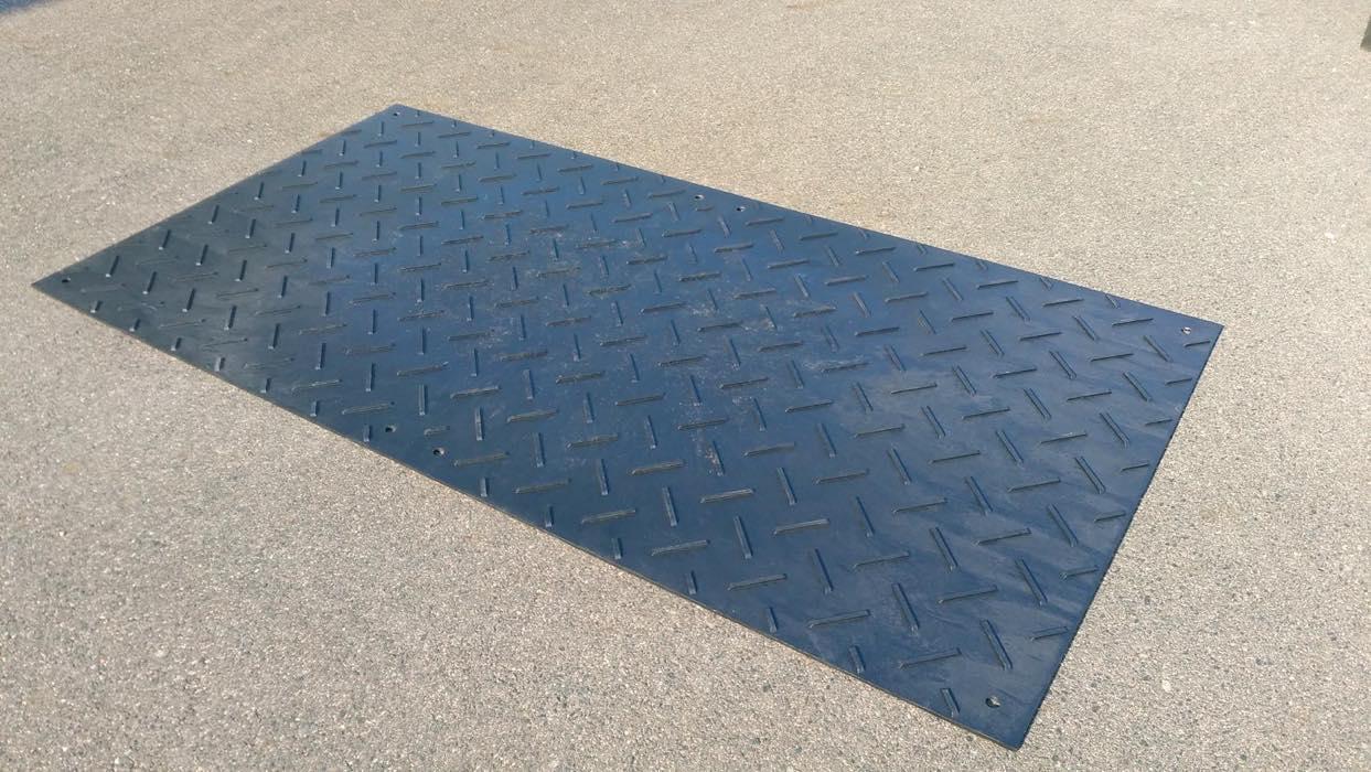 送料無料 軽量敷板 ウッドプラスチック Wボード 両面 1000mm×2000mm(新品)(10枚セット)