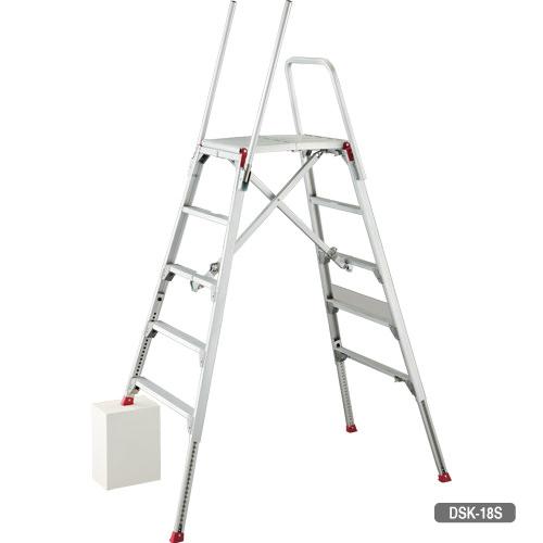 送料無料 可搬式作業台 お立ち台 DSK(天板高さ:900mm - DSK-09)(新品)(長谷川工業)