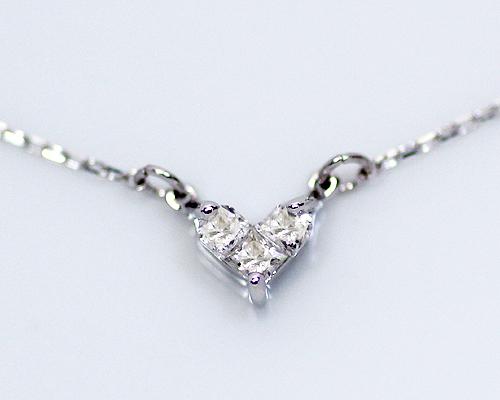 *【限定4本限り】K18WG 0.1ct ダイヤモンドハートペンダント (230808) ホワイトゴールドのみの販売となります。