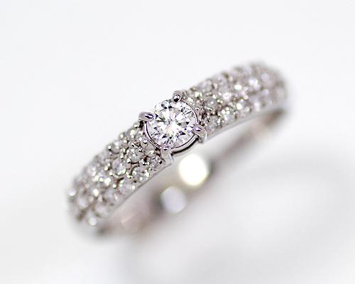 【2020年1月1日~1月3日限定 クーポン利用で20%OFF】Pt 0.2ct SIクラスダイヤモンドリング (270087)