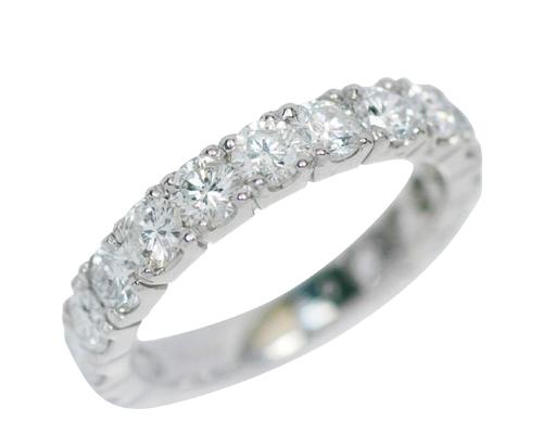 プラチナ2.0ctダイヤモンドフルエタニティリング