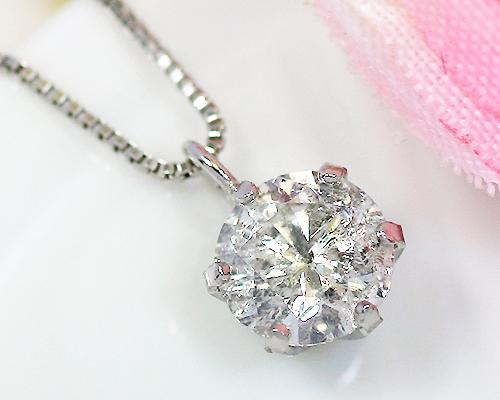 Pt900 0.5ct ダイヤモンドペンダント