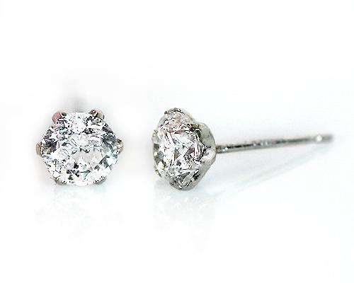 プラチナ0.7ctダイヤモンドイヤリング ピアス