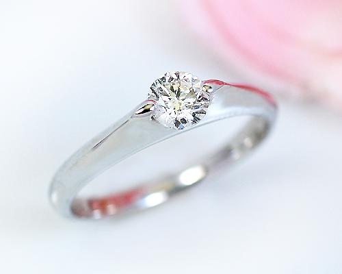 K18/WG/PG 0.3ct ダイヤモンドリング