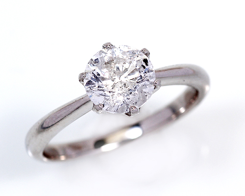 【2020年1月1日~1月3日限定 クーポン利用で20%OFF】2.0ct プラチナ ダイヤモンド 6爪 リング (Hカラー・I1クラス・Fairカット) 鑑定書 エンゲージリング 婚約指輪 ダイヤ 指輪 天然ダイヤ 結婚 婚約 女性用 レディース ブライダルジュエリー ファッション