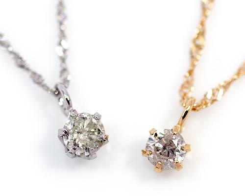 【2020年1月1日~1月3日限定 クーポン利用で20%OFF】K18/WG 0.1ct ダイヤモンドペンダント
