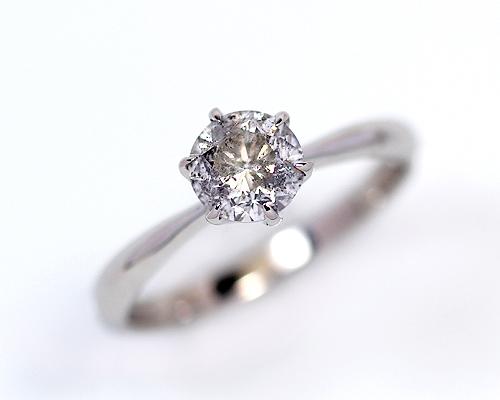 0.7ct プラチナ ダイヤモンド 6爪 リング (Hカラー・I1クラス・GOODカット) 鑑定書 エンゲージリング 婚約指輪 ダイヤ 指輪 天然ダイヤ 結婚 婚約 女性用 レディース ブライダルジュエリー 6爪 ファッション