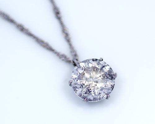 2.5ct プラチナ ダイヤモンド 6爪 ペンダント (Hカラー・I1クラス・Fairカット) 鑑定書 ネックレス ダイヤ 天然ダイヤ 女性用 レディース ファッション
