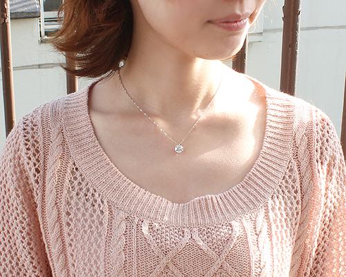 2.5ct レディース ダイヤ 6爪 ファッション 鑑定書 プラチナ ダイヤモンド 天然ダイヤ (Hカラー・I1クラス・Fairカット) 女性用 ネックレス ペンダント
