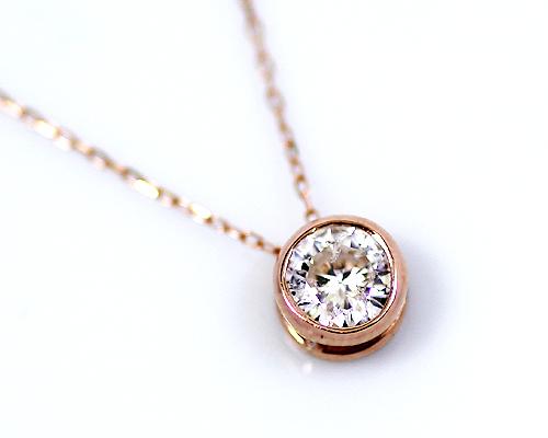 K18/WG/PG 0.3ct ダイヤモンドペンダント